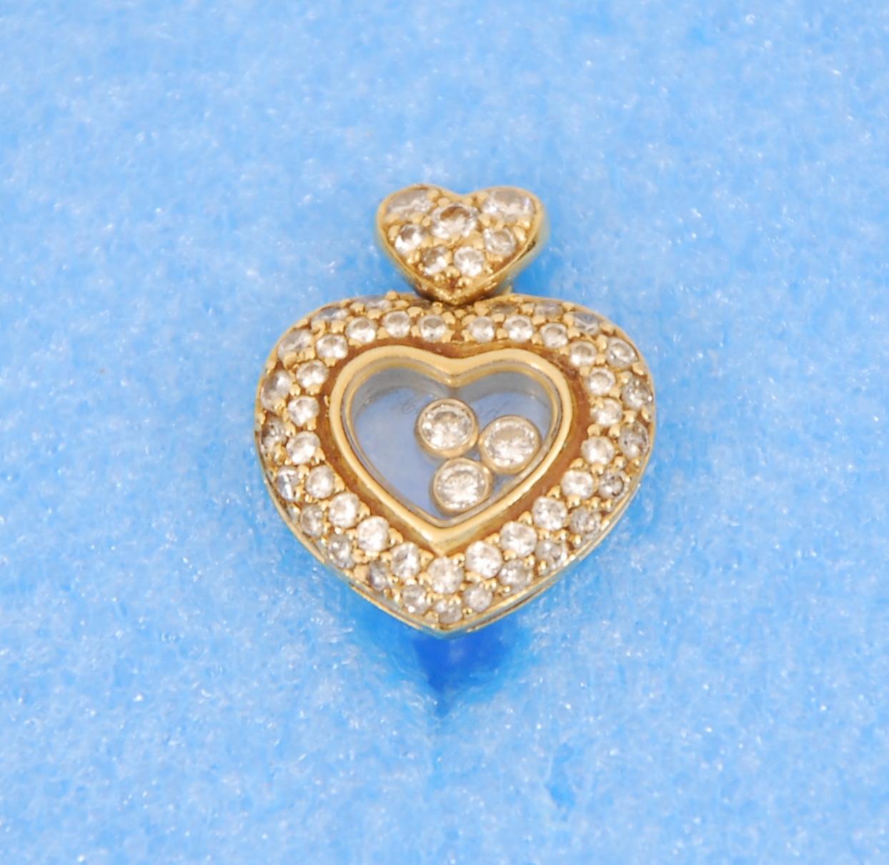 Pendentif Chopard en forme de coeur