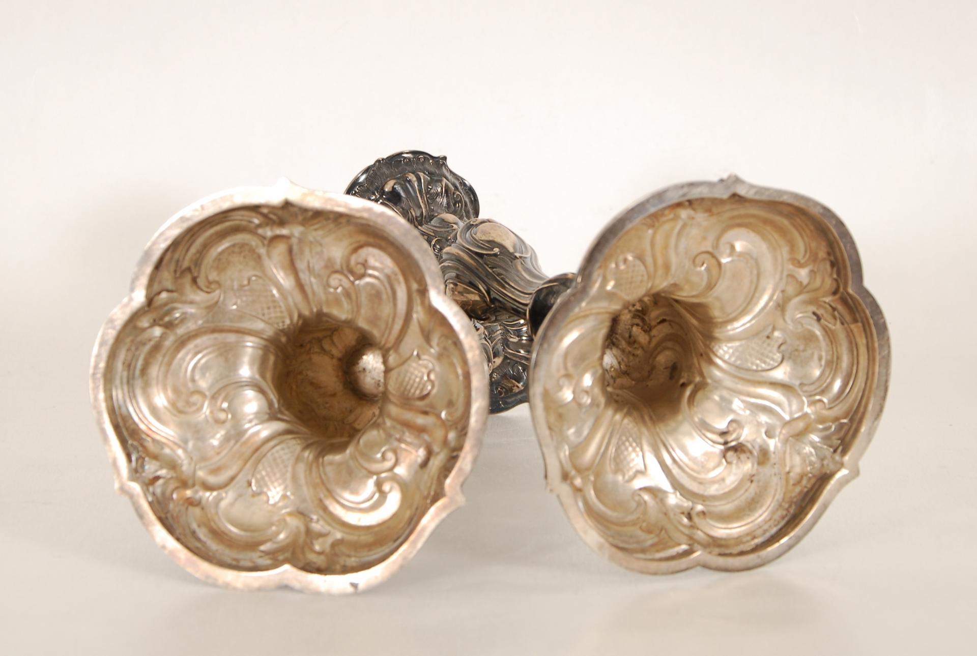 Paire de chandeliers de style Louis XV